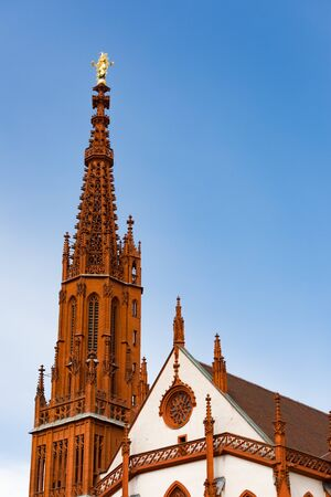 Tower of the St. Mary's Chapel in Wurzburg Bavaria, Germany