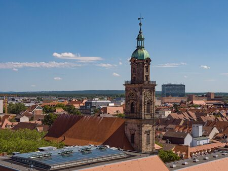 aerial View of the Neustaedter Church of Erlangen in Germany Standard-Bild - 130814578
