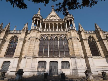 Exterior View of the backside facade of the Chapel Royal Saint Louis in Dreux, France