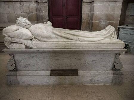 Dreux, France, April 30, 2019: Memorial of Antoine Montpensier inside of Chapel Royal Saint Louis Editorial