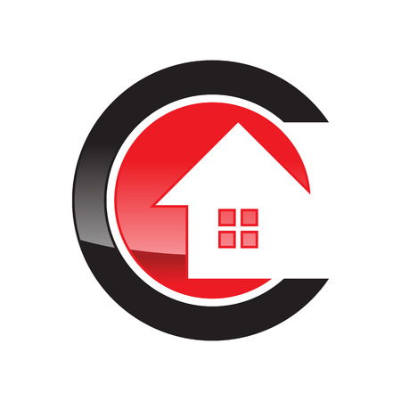 Initial C Housing and Real Estate Vectores