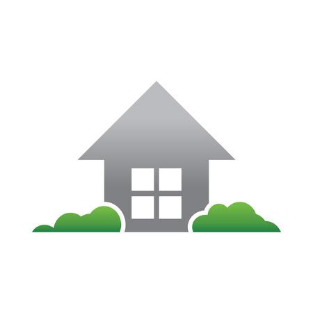 simple logo: Simple House Green Garden Logo Template
