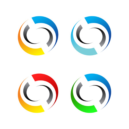 Abstract Trans Circle Symbol Stock Illustratie