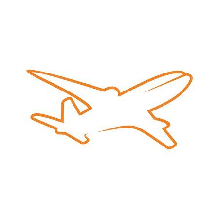 commercial airline: Aeroplane Line Art Illustration
