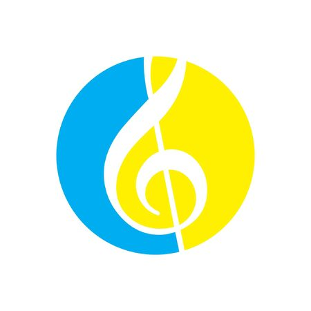 symphony: Soft Symphony Circle Logo Illustration