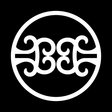 BB Initials Circle Iron Ornament
