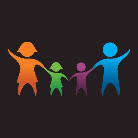 happy family: Happy Diversity Family