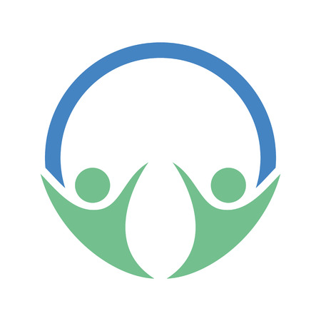 simple logo: Simple Happy People logo Illustration