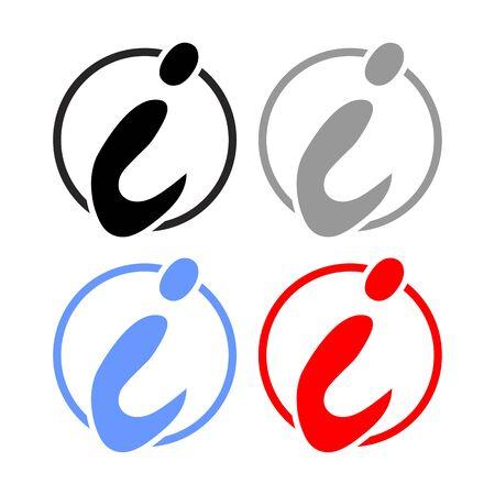 initial: Initial Letter i Circle Symbol
