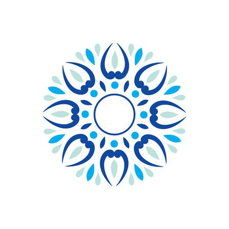 Abstract Blue Mandala Background Stock Illustratie