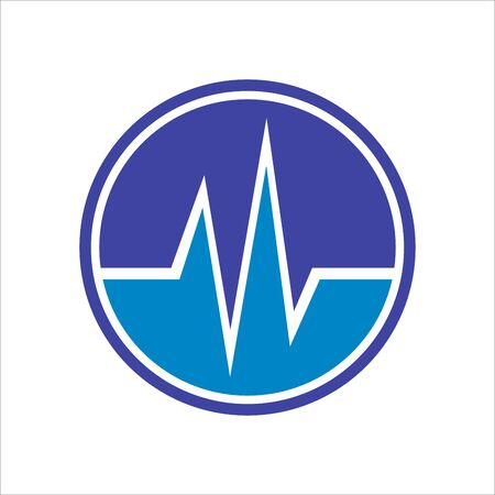 Circle Beat icon. Heartbeat Vector illustration.