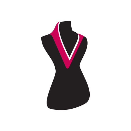 Letter V Fashion Dummy logo design.
