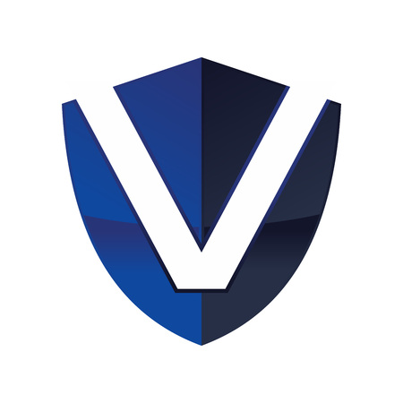 Letter V in Shield Logo Design