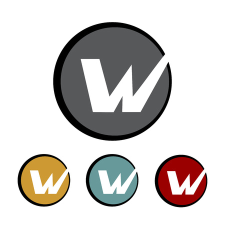 Letter W Circle Logo Template