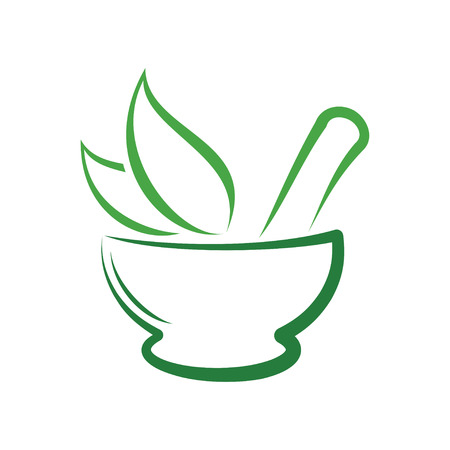 Herbal Pharmacy Logo, Traditional Medicine