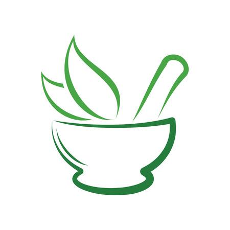 Herbal Pharmacy Logo, Traditional Medicine