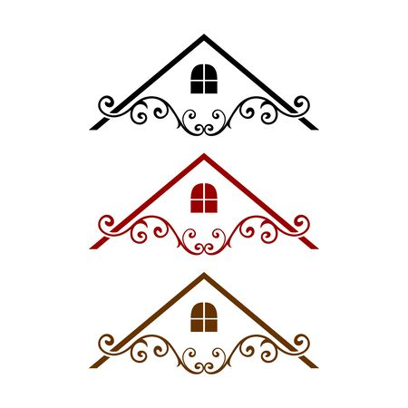 Elegant Roof Vector. Real Estate, Building and Construction Logo Design