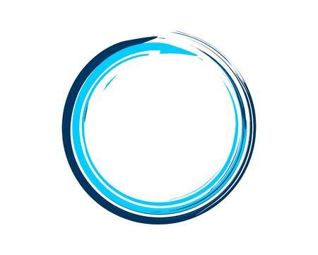 Enso Zen Symbol Blue Illustration