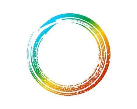 Enso Zen Symbol Fountain Colors. Enso Zen Circle Illustration