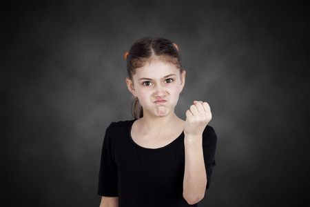 disobey: Closeup portrait mad young girl about to have nervous atomic breakdown Stock Photo