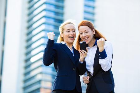 Portrait happy business women photo