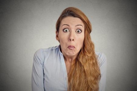 Woman has no Idea Фото со стока