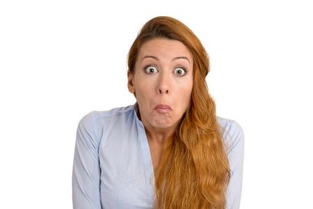 Woman has no Idea 写真素材