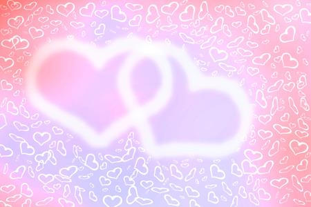 universal love: Resumen de color rosa pastel de desenfocado, efecto bokeh luces en forma de coraz�n borrosa textura, fondo. Fondo de pantalla universal al D�a de San Valent�n con corazones. El amor, la pasi�n, los sentimientos concepto.