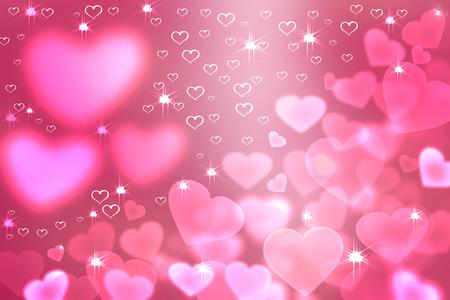 universal love: Resumen de colores de fondo desenfocado, borrosa efecto bokeh luces en forma de coraz�n textura, fondo. Fondo de pantalla universal al D�a de San Valent�n con corazones de color rosa y las estrellas. El amor, la pasi�n, los sentimientos concepto.