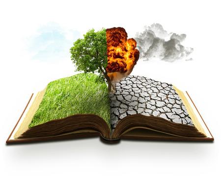 sequias: Ecología concepto de calentamiento global. Protector de pantalla del paisaje
