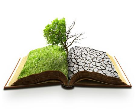 calentamiento global: creativo imagen del concepto paisaje del calentamiento global, un problema desastre climático naturales