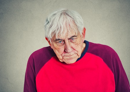 alzheimers: Portrait of an elderly depressed man Stock Photo
