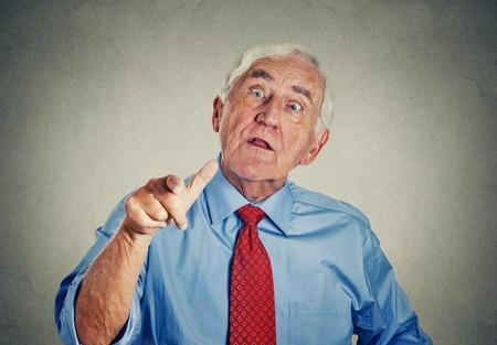 grumpy old man: Angry senior man