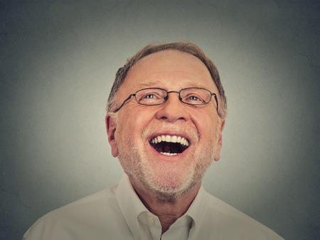 Smát se starší muž Reklamní fotografie