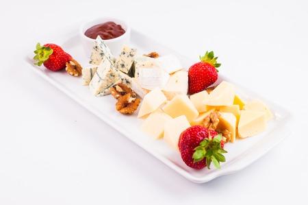 tabla de quesos: Placa de queso con quesos Dorblu