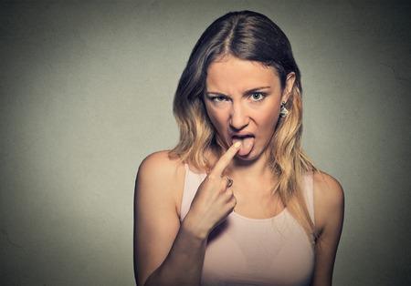 Closeup portrait young woman