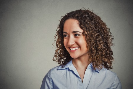 israeli: Happy young woman Stock Photo