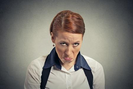 upset woman: Sad grumpy woman