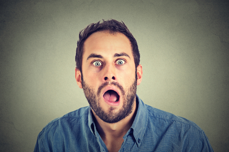 astonishment: shocked man