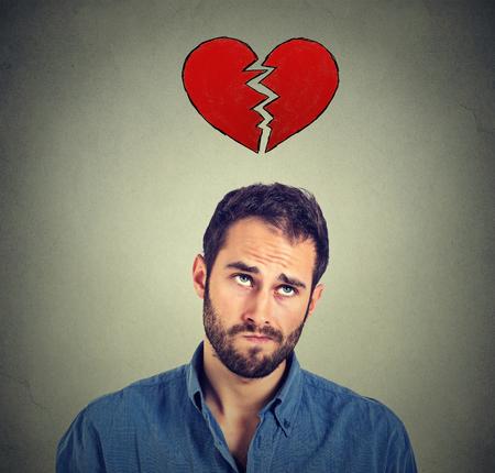 visage homme: Coeur homme bris�