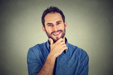 young man portrait: happy man