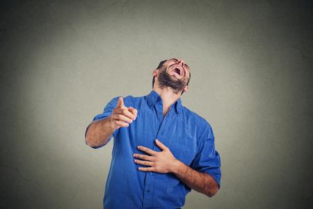 Śmiejąc się młody człowiek Zdjęcie Seryjne