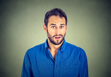 guys: portrait of surprised man Stock Photo