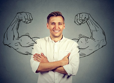 self confident: Strong man Stock Photo