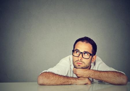 El pensamiento del hombre de negocios Foto de archivo