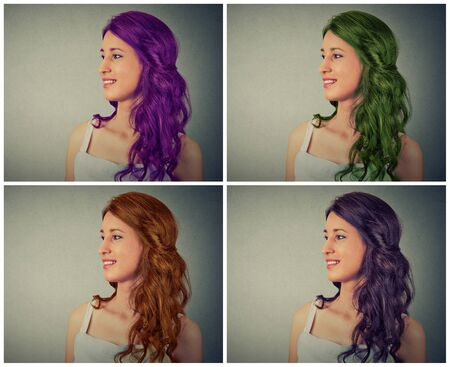 color hair: woman with different hair color