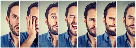 multiple personality: Man changing mood