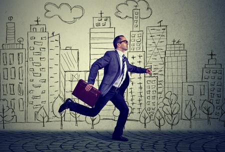 errands: Running employee business man