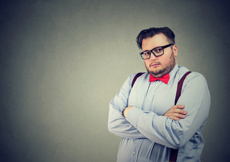 Portrait of a serious business man with snobbish face expression Stok Fotoğraf
