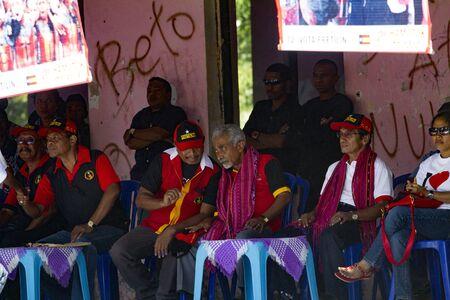 parliamentary: Liquica, East-Timor - June 30, 2012: Fretilin president Francisco Lu Olo Guterres and secretary general Mari Alkatiri at a campaign event in Liquica, during East Timorese parliamentary elections, held in  2012